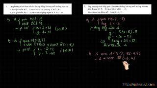 Hình học 10- Chương 3-  Bài 1- Phần 4- Bài tập các dạng phương trình đường thẳng- RẤT HAY