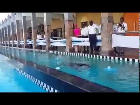 OUTLAW SWIMMING IN FRONT OF THE PARLIAMENT OF BOTSWANA