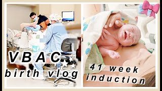 Labor and Delivery Vlog 2020 | SUCCESSFUL VBAC | INDUCTION | HamFamCam