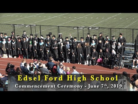 Edsel Ford High School | 2019 Commencement Ceremony | Part 1