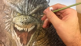 見ているだけで楽しい!圧倒的画力で描き上げる『ゲーム・オブ・スローンズ』のドラゴンをタイムラプスで