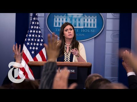 Sarah Huckabee Sanders Memorable Moments Defending President Trump | The New York Times
