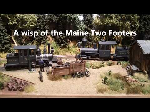 A wisp of the Maine Two Footers on my Hon30 logging layout