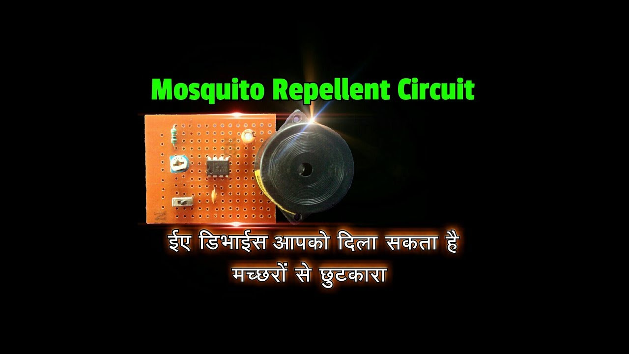 How To Make Electronic Mosquito Repellent Circuit Using 555 Ic
