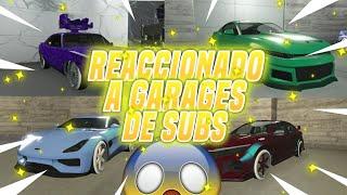 REACCIONANDO A GARAJES DE SUBS!! LOS MEJORES COCHES DE GTA V!! - GTA 5 ONLINE