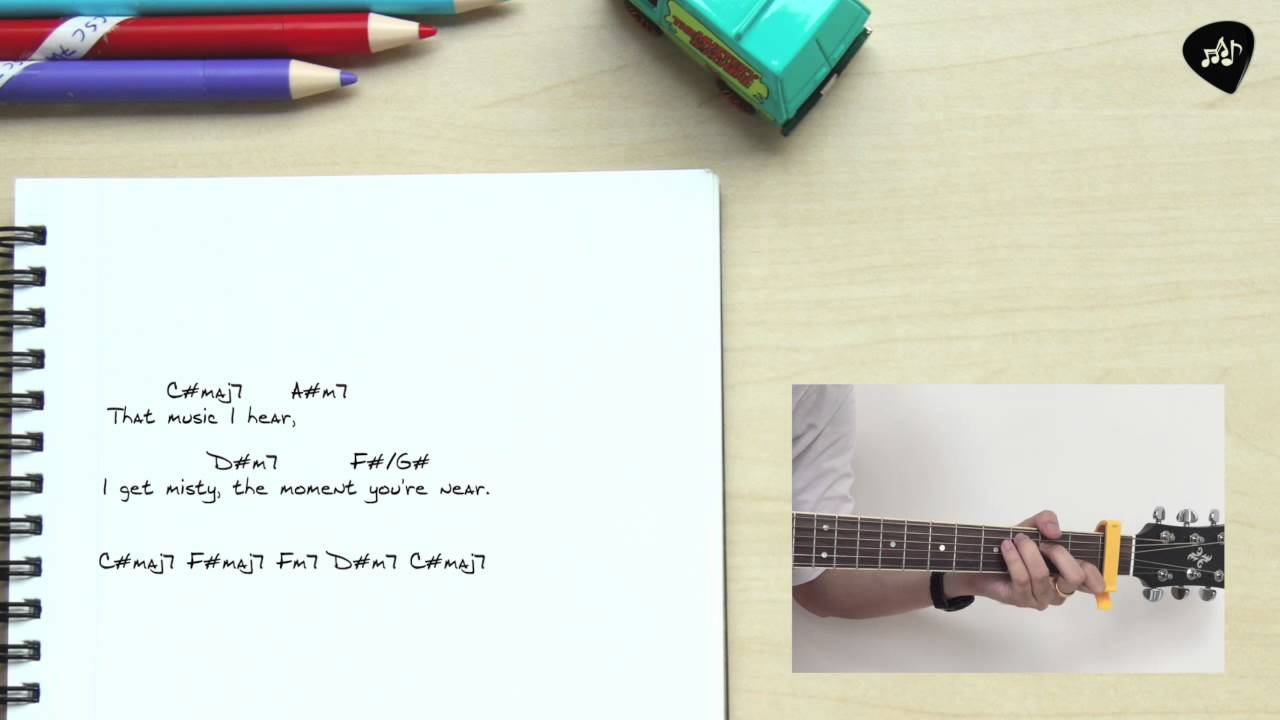 Misty By Ella Fitzgerald Sing Along With Guitar Chords Tutorial