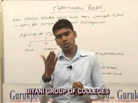 Metamorphic Rocks Lecture, BA, MA  by Dr. Abhishek Baldwa