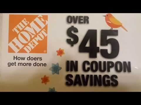 Home Depot Coupon Haul. Store and Manufacturer Coupons Available!
