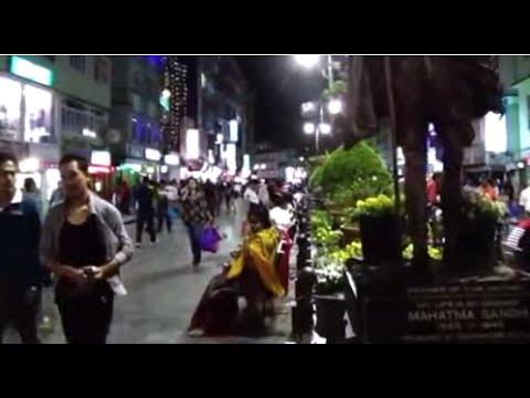 M. G Marg - Marvellous, Most Happening And Prime Place Of Gangtok, Sikkim, India By Night