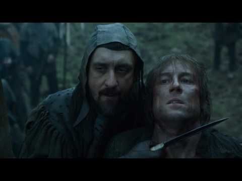 Jaime Lannister slaps one of the Freys holding Edmure hostage