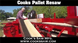 Cooks Pallet Resaw - Pallet Boards & Beveled Siding Demo