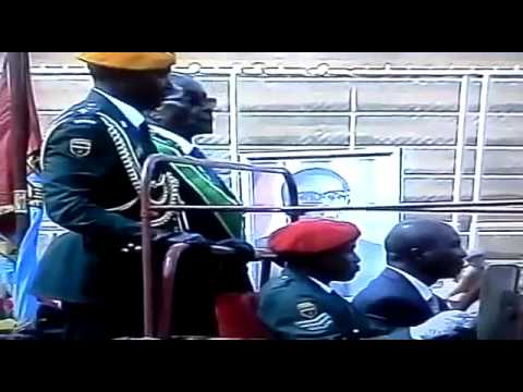 Mugabe bows to his potrait