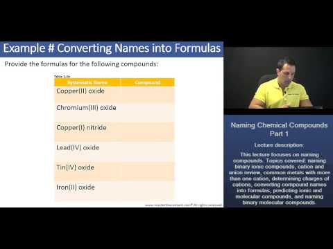 DAT: Converting Chemical Compound Names into Formulas - YouTube