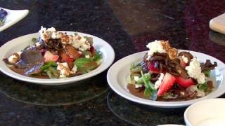 Delicious Strawberry Goat Cheese Salad