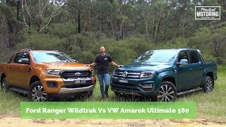 Ford Ranger Wildtrak bi turbo Vs Volkswagen Amarok V6 580 comparison review
