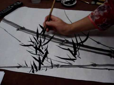 Chinese Painting Bamboo for Beginners--Windy Bamboo