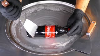 ASMR tingles with tapping &amp scratching  satisfying Coca-Cola Ice Cream Rolls ear to ear 4k mukbang