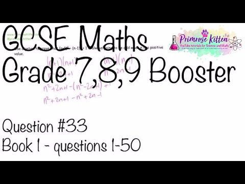 Algebraic Proof - GCSE 9-1 Maths Grade 7, 8, 9 Booster Revision #33