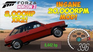 Forza Horizon 3 - FIESTA XR2 WITH 20,000RPM & 8,000HP! Crazy Redline Sound & Wheelies!