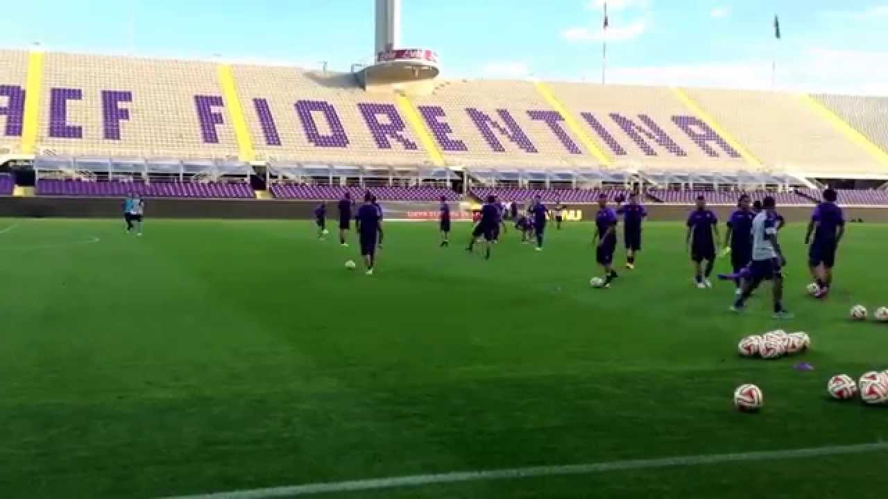 Europa League. La rifinitura dei viola (VIDEO)