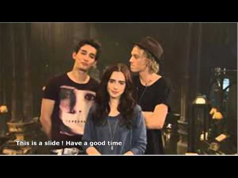 lily collins jamie campbell bower and robert sheehan interview