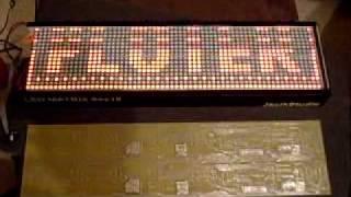 ATMEGA32 LED MATRIX (64x16) by Jacik V2