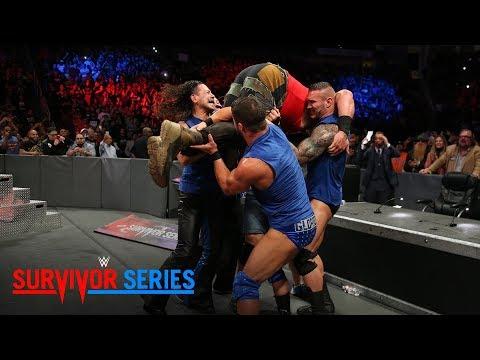 Team SmackDown puts Braun Strowman through the announce table: Survivor Series 2017 (WWE Network)
