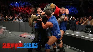 Team SmackDown puts Braun Strowman through the announce table: Survivor Series 2017 (WWE Network)
