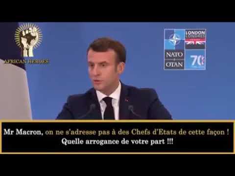 Macron demande une réponse aux chefs d'états  Africains