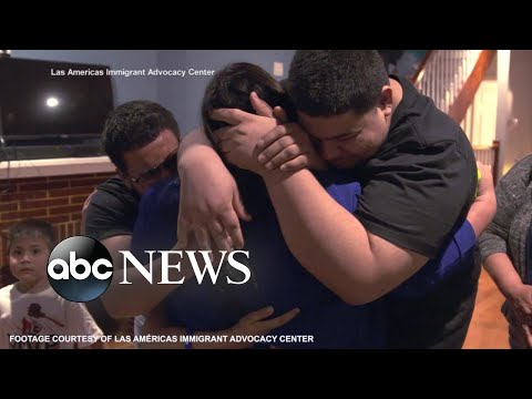 Families reunited as Biden administration tackles crisis at the border