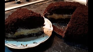 Бананово-шоколадный торт. Наслаждайтесь