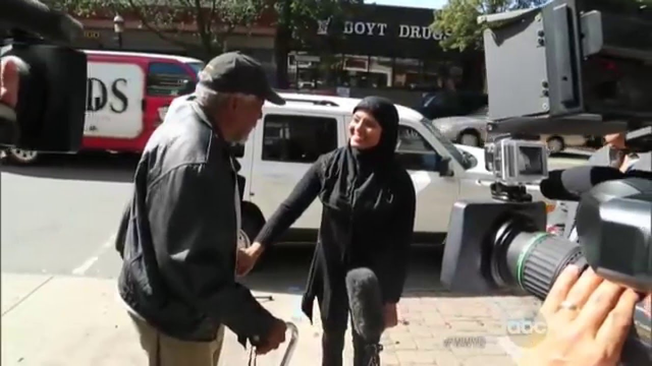 80 year old man helps muslim woman change tire best What do you buy an 80 year old man