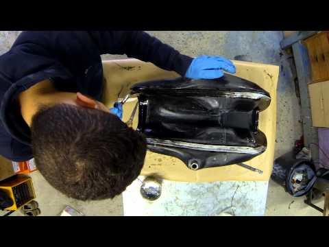 Fabrication du réservoir en composites résine époxy/fibres carbone (fin)