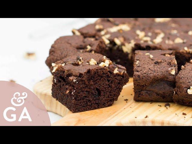 Brownie de chocolate con nueces   Receta muy fácil y rápida