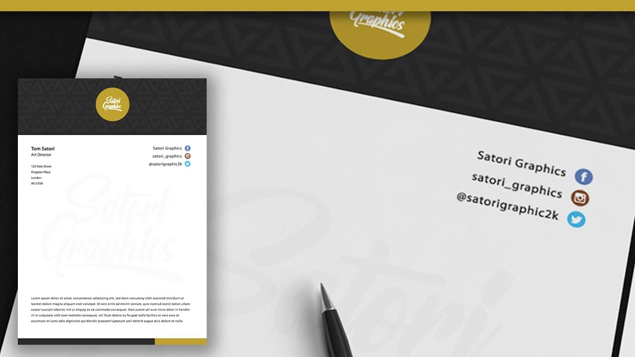 tips on letterhead design in adobe illustrator illustrator