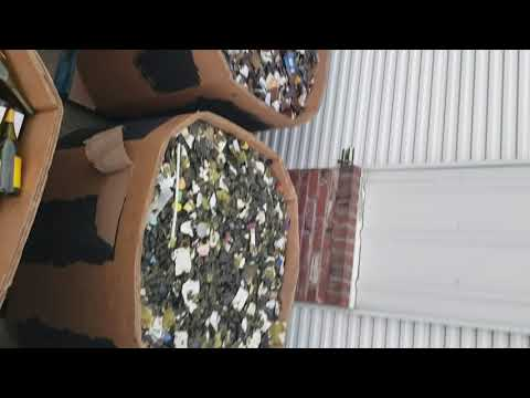 40000 lb of recycling glass