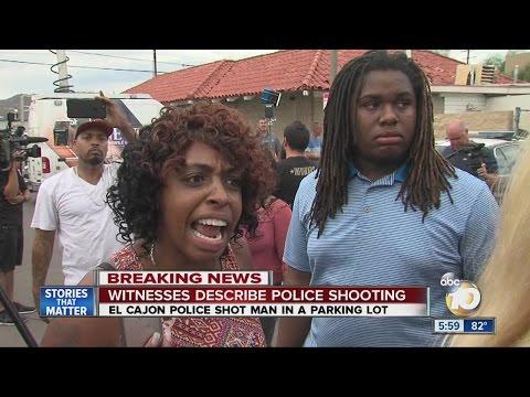 Witnesses describe police shooting in El Cajon