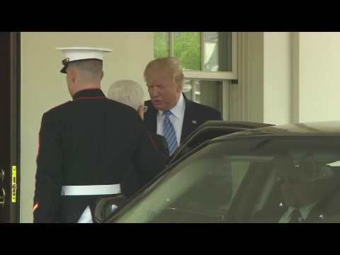 President Trump welcomes Palestinian President to the White House.