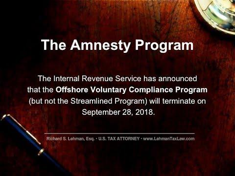 Amnesty Offshore Voluntary Disclosure Program.