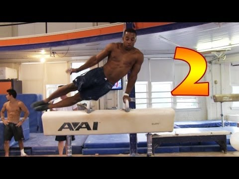 Gymnastics Conditioning Circuit Training at The University of Illinois Gymnastics Part 2