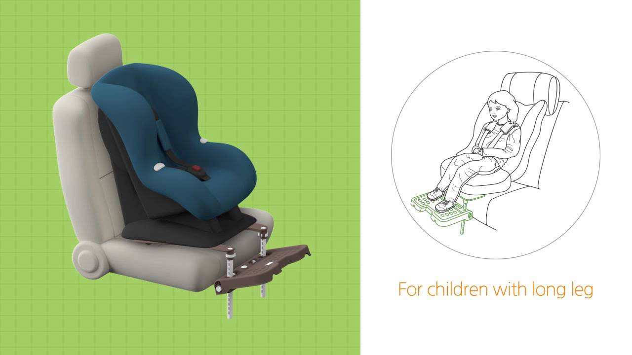 Introductory Video For The Car Seat Footrest KneeGuardKids COMMON SENSE II