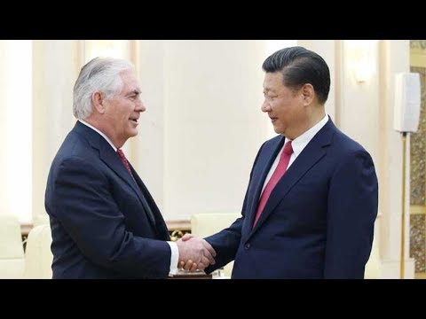 Tillerson lays groundwork for Trump's visit to China