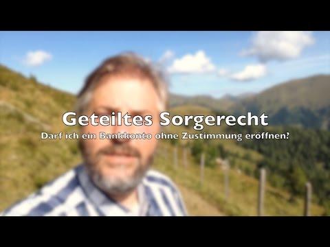Familienrecht   Geteiltes Sorgerecht und Eröffnung eines Bankkontos   RA-Video.tv #04