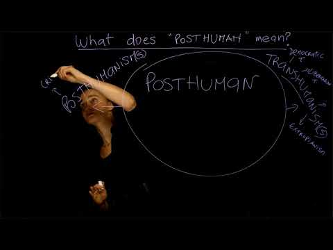 "1. What does ""POSTHUMAN"" mean? Dr. Ferrando (NYU) - Course ""The Posthuman"" Lesson n. 1"
