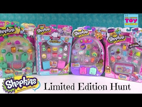 Shopkins Limited Edition Hunt 12 Pack Unboxing Season 3 4 5 6 | PSToyReviews
