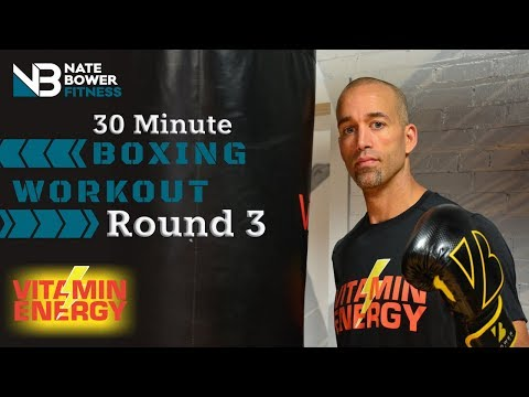 30 Minute Boxing Heavy Bag Workout Round 3