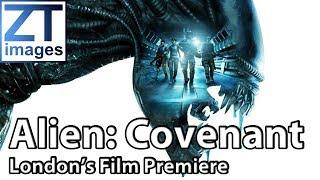 Michael Fassbender, Katherine Waterston, Ridley Scott at Film Premiere of Alien: Covenant London UK