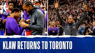 Kawhi Receives Championship Ring, Drops 23 PTS in Return to Toronto!