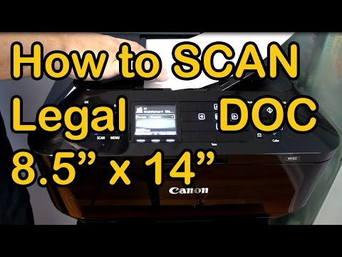 How-to Scan Legal Size Documents Canon MX922 All-in-One Printers