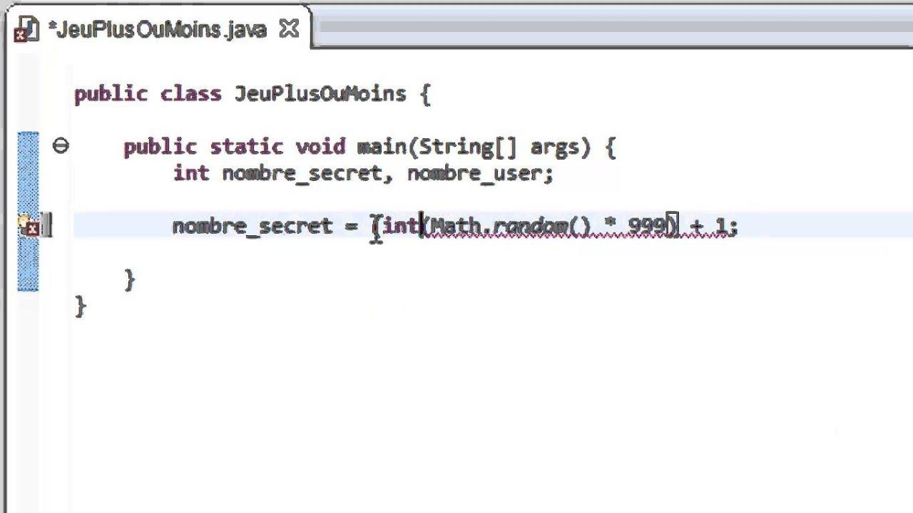Programmer En Java Debutant 36 Jeu Plus Ou Moins Youtube